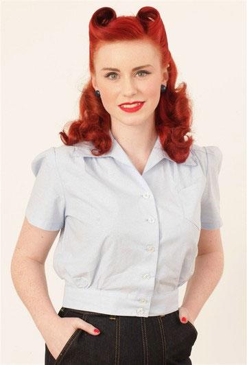 Pale blue blouse - Freddies of Pinewood - £35