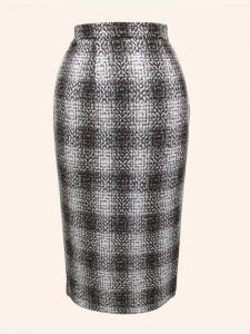 Brown plaid pencil-skirt - Vivien of Holloway - £59