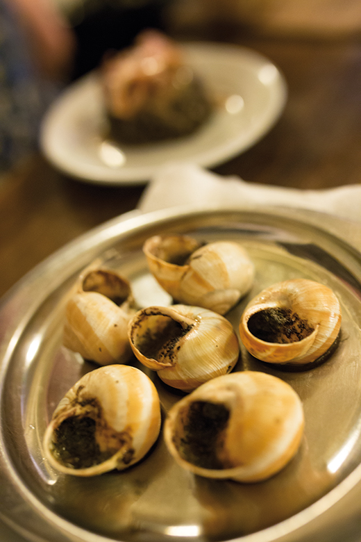 Classic French cuisine - escargot