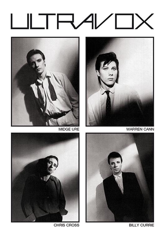 Vienna album booklet, shot by Brian Griffin 1980