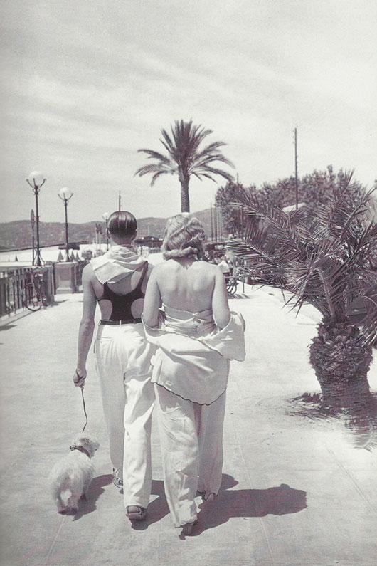 Promenade du soleil in Juan-les-Pins, on the Côte d'Azur circa 1920s
