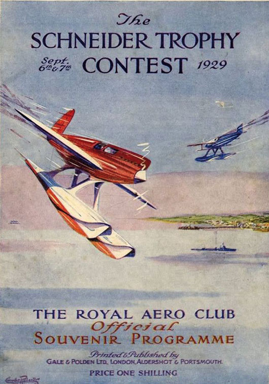 Cover of the 1929 Schneider Trophy Contest souvenir programme from the Royal Aero Club.