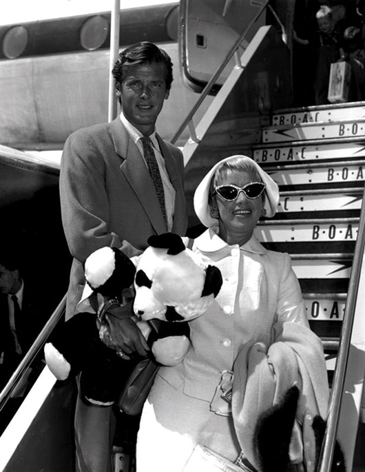 Dorothy Squires with husband Roger Moore